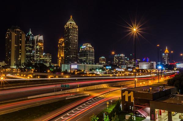 Speeding through the city