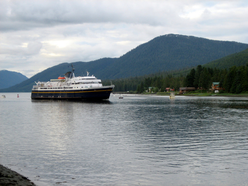 The Alaska Ferry passing by