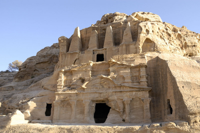 The entrance down Wadi Musa and the Obelisk Tomb