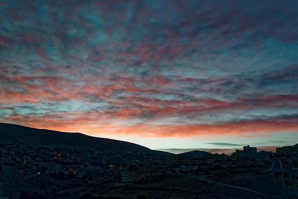 Sunrise over Wadi Musa town