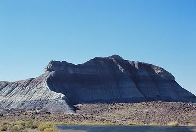 11/12/99 View across road from Crystal Forest Trailhead, Petrified Forest National Park. Navajo County, AZ