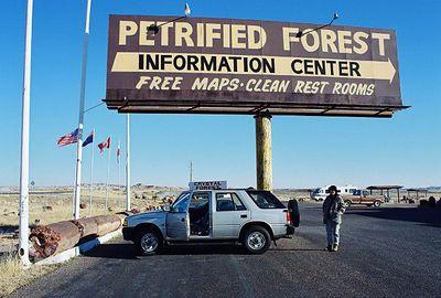 11/12/99  South Entrance to Petrified Forest National Park. Navajo County, AZ