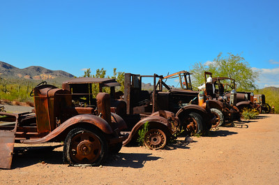 Goldfield Mine Ghost Town Trucks.