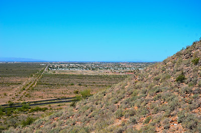 Apache Junction, Arizona from Silly Mountain hike.