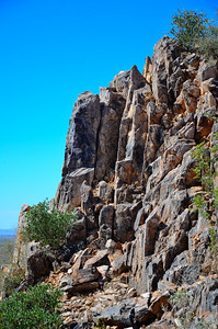 Rock face on Silly Mountain