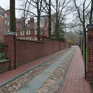 Philadelphia old city walkway.