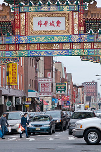 Philadelphia Chinatown. Friendship Gate at 10th and Arch Street.