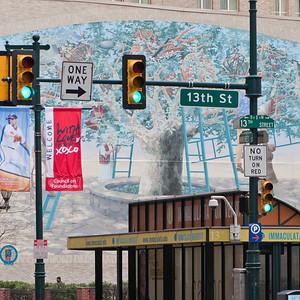 13th Street and Market, Philadelphia.