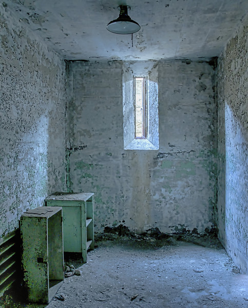 Furniture in the cells was sparse.