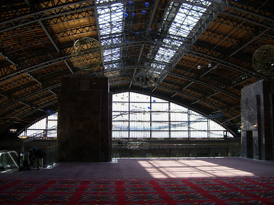 Conference center built into the old train station.