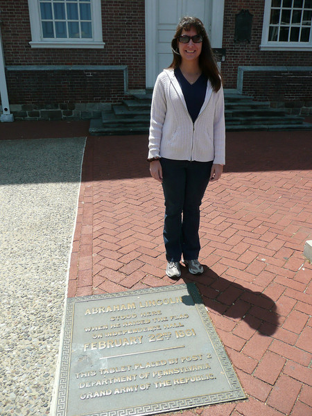 Diane....standing where Abe Lincoln stood.