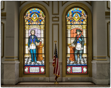 Grand Lodge - Grand Banquet Hall - Jackson & Washington Windows