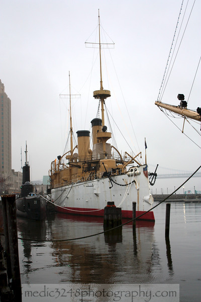 USS Olympia (C-6) made famous famous as the flagship of Commodore George Dewey at the Battle of Manila Bay during the Spanish-American War in 1898.