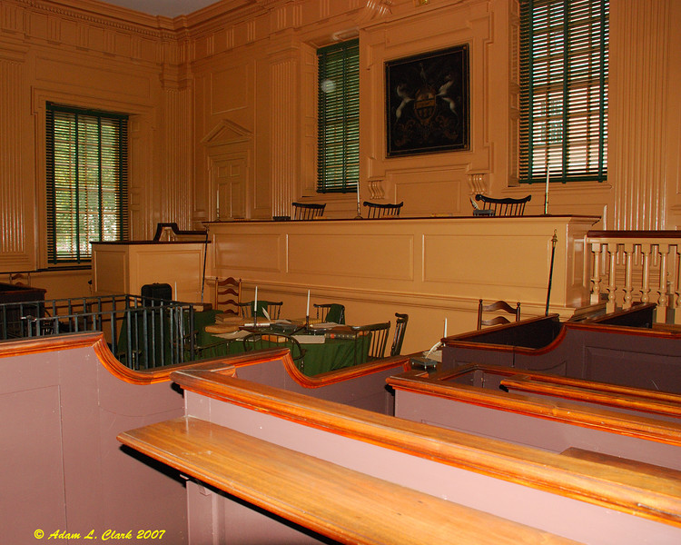The courtroom in Independence Hall.