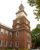 The bell/clock tower of Independence Hall.