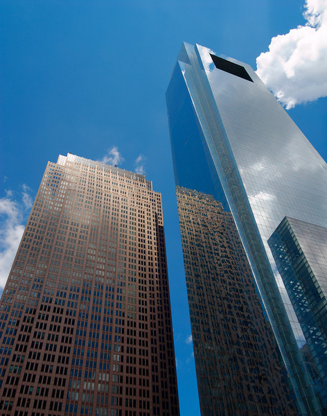 Comcast Center (right), Building Reflection, Philadelphia