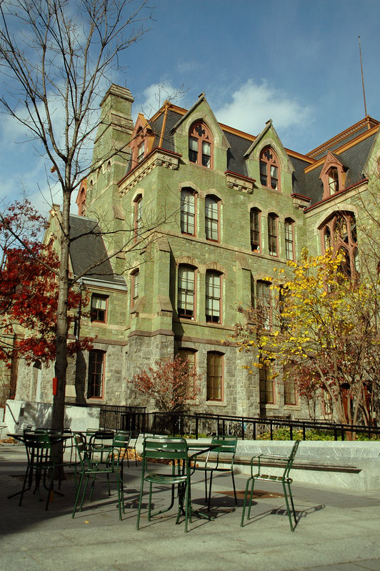 College Hall as seen from Perelman quadrangle