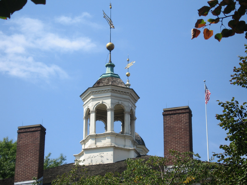 Roof on one of the buildings at Independence Hall