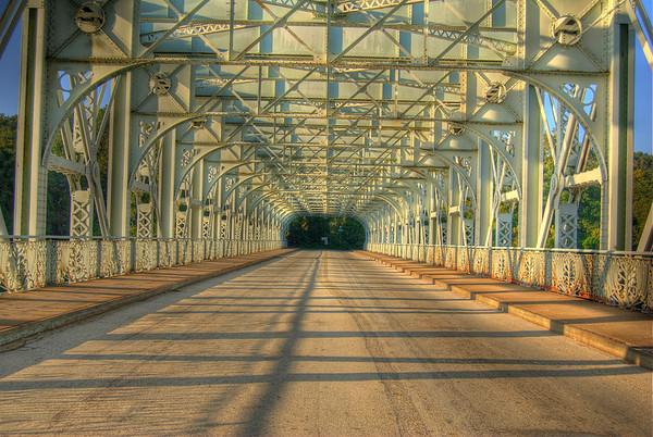 Falls Bridge, Philadelphia (HDR high dynamic range image)
