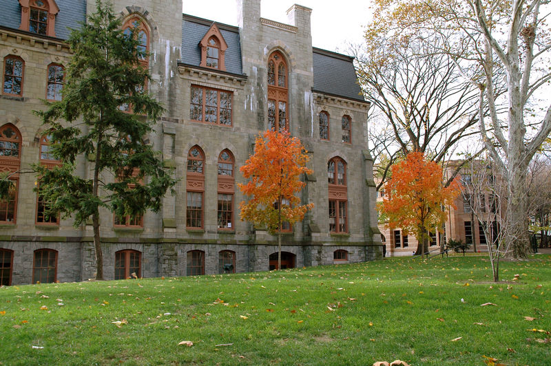 College Hall from Blanche P Levy Park