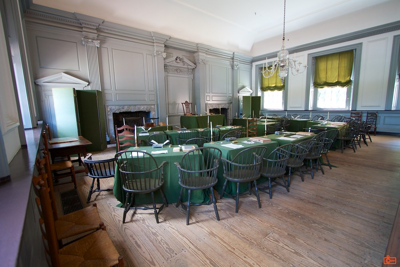 This is the Assembly Room, in which both the Declaration of Independence and Constitution were drafted and signed.<br /> IMG_3993