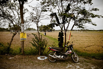 Parking along the Rice Fields.. Kalibo, Aklan Philippines
