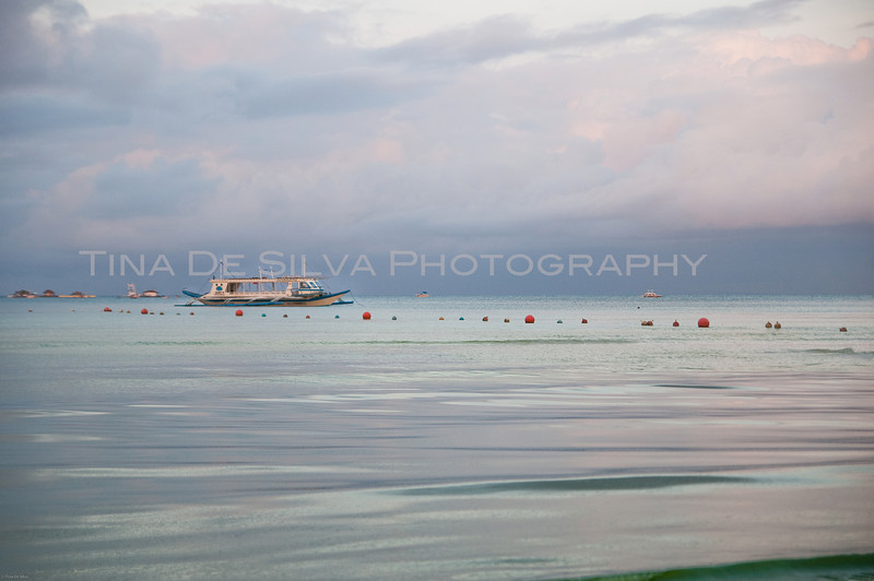 Boat in the Sea<br /> Boracay Islands<br /> Philippines