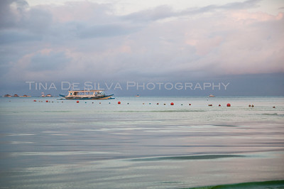 Boat in the Sea Boracay Islands Philippines