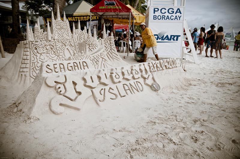 Sand Castle<br /> Boracay Beach<br /> Philippines