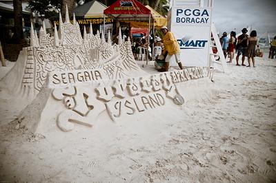 Sand Castle Boracay Beach Philippines