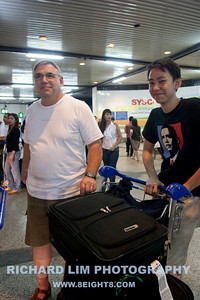 More of my Brother-in-law, Charlie, the Kalifornian and my nephew's son, Matt with my luggages full of photographic equipment.