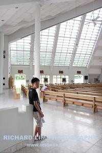 My nephew's oldest son, Jet, inside the Church of the Gesu.