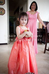 Mey Mey, one of the flower girls in the wedding party.( Daughter of Gerry & Angela (Nephew & Niece-in-law) with my sister, Jane.