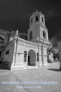 Cebu Metropolitan Cathedral side entrance and belfry.