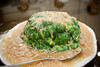 Broccoli with shredded scallops.