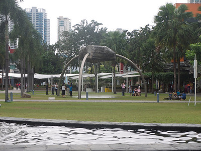 walking around the mall at Fort Bonifacio