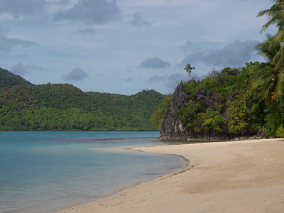 we visited Dibuluan Island to sail and windsurf.