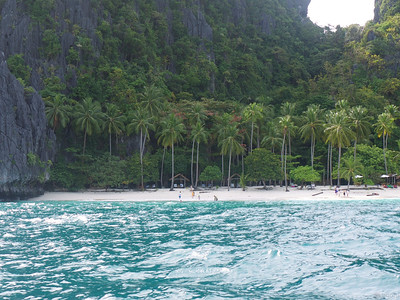 another island with a white sand beach.
