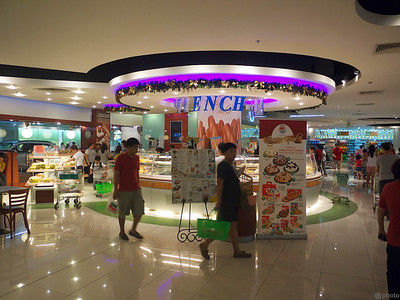 the inside of the grocery store in Landmark TriNoMa.