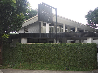 this was the home of diplomat Carlos Romulo, which his family has turned into a restaurant, but kept all the rooms intact and put up lots of memorabilia to keep his memory alive.
