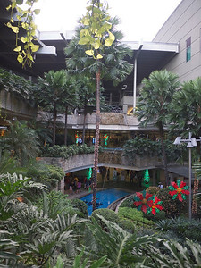 outside courtyard of TriNoMa