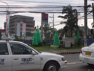 green plastic bottle Christmas trees