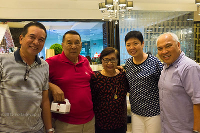 One of the couples I respect the most, Tito Tony Gozum and Tita Glo Balmaceda Gozum, are always fun to be with.  Time with them, Butch, and the rest of the family is always too short.  Until the next time, po.