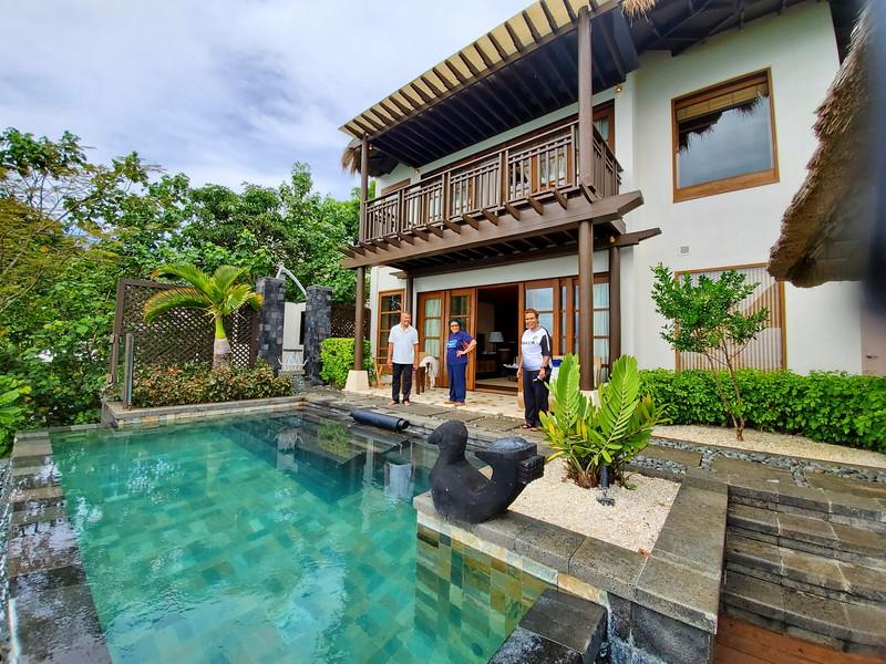 A villa at Shangri-La resort.