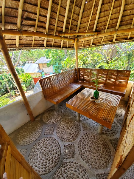 Sitting area at Eden Villa.