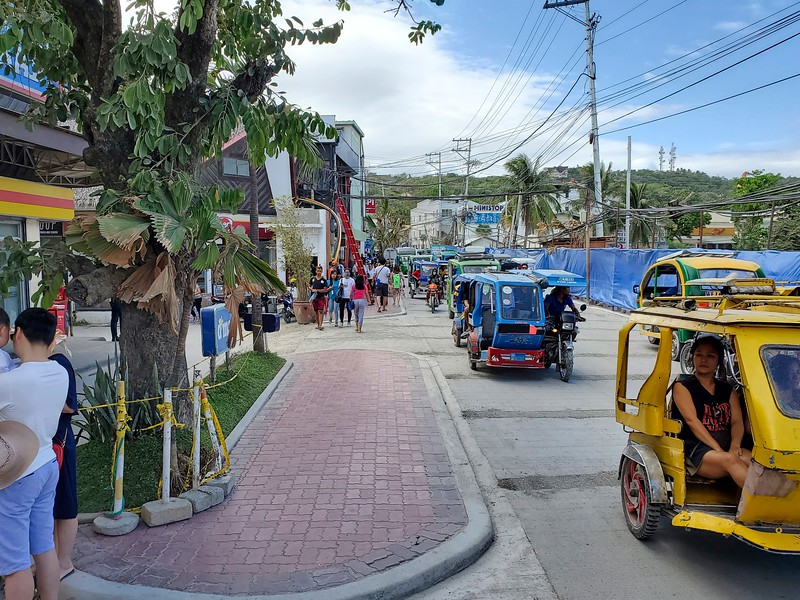 The main street on Boracay.  Still under renovation.