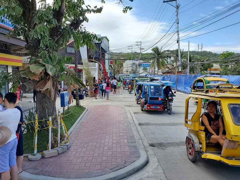 The main street on Boracay.  Still under renovation.