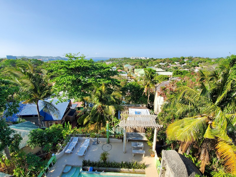 A view of Boracay from the roof of the villa.