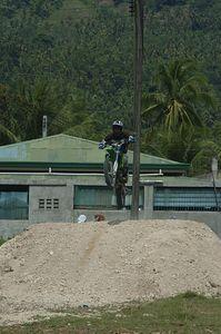 Motocross race in Iligan city, Philippines June 16, 2005