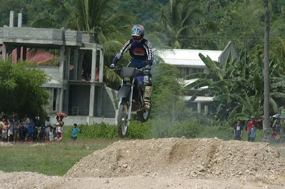Motocross race in Iligan city, Philippines June 16, 2005